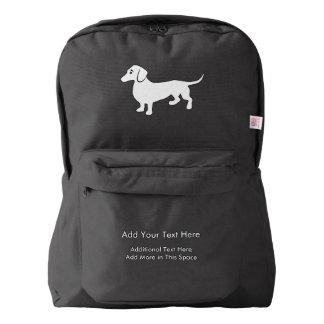 Simple Dachshund Customizable Backpack