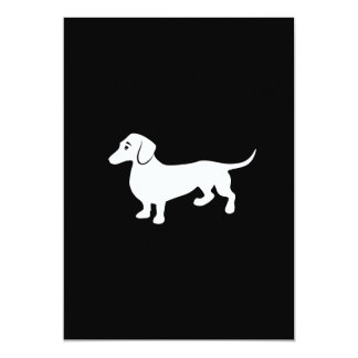 Simple Dachshund Customizable Card