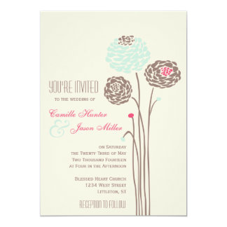 Simple Dahlia - Rustic Modern Wedding Card