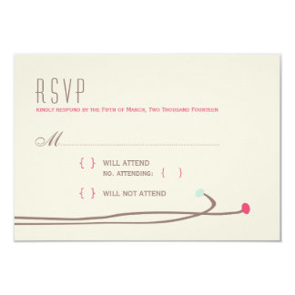 "Simple Dahlia - Rustic Modern Wedding RSVP 3.5"" X 5"" Invitation Card"