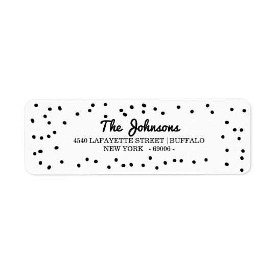 Simple Dalmatian Dots Holidays Return Address Label