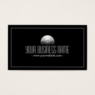 Simple Dark Audio/Music Recording Business Card