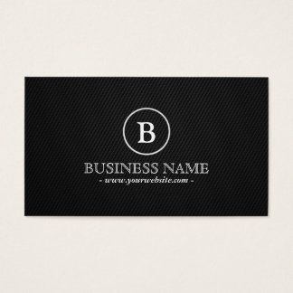 Simple Dark Monogram Baker Business Card