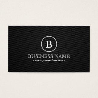 Simple Dark Monogram DJ Music Business Card