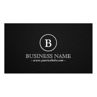 Simple Dark Monogram Optometrist Business Card