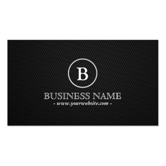 Simple Dark Monogram Plumbing Business Card