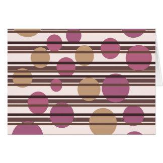 Simple decorative pattern card