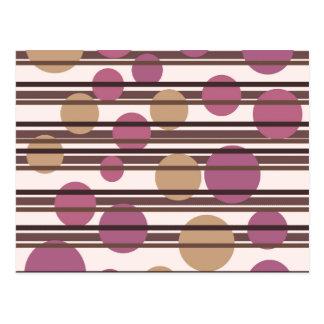 Simple decorative pattern postcard