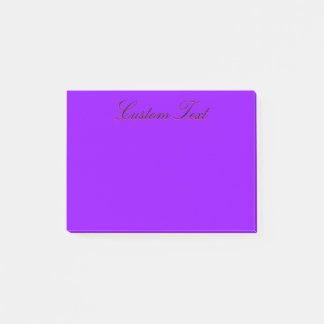 Simple Deep Violet Post-it Notes