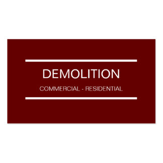 Simple Demolition Business Cards