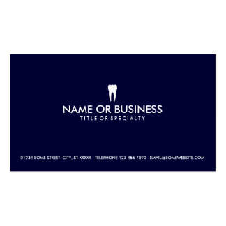 simple dentistry pack of standard business cards