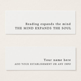 Simple Design Bookmark Mini Business Card