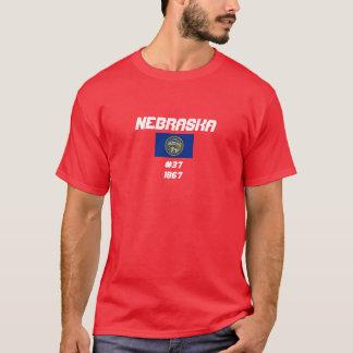 Simple Design Nebraska Flag Shirt