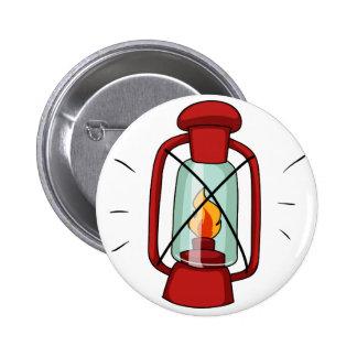 Simple design of camping lamp 6 cm round badge