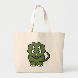 simple dino large tote bag
