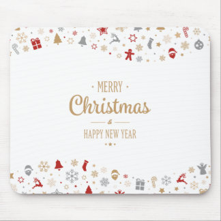 Simple Ditsy Christmas and New Year | Mousepad