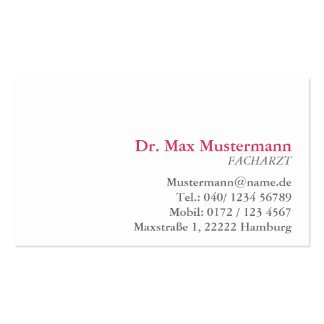 simple doctor visiting card pack of standard business cards
