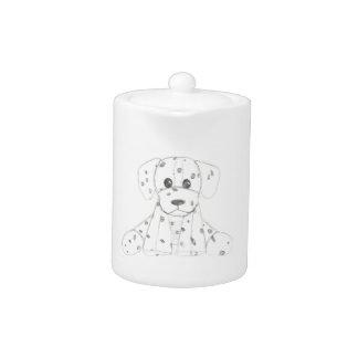 simple dog doodle kids black white dalmatian