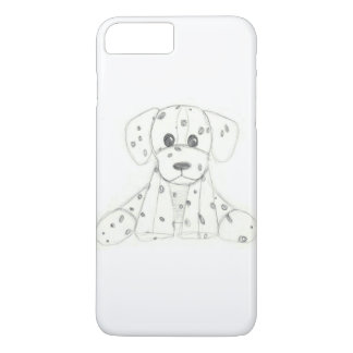 simple dog doodle kids black white dalmatian iPhone 8 plus/7 plus case