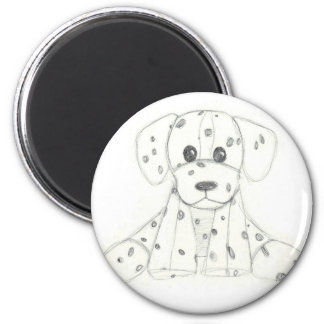 simple dog doodle kids black white dalmatian magnet
