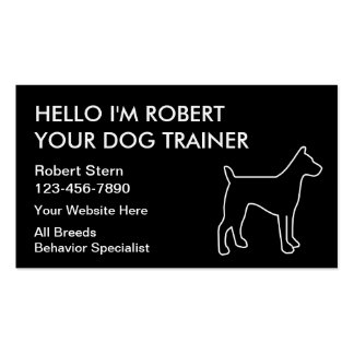 Simple Dog Training Business Cards
