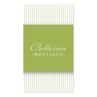 Simple Dots Olive Green Business Card (vert)