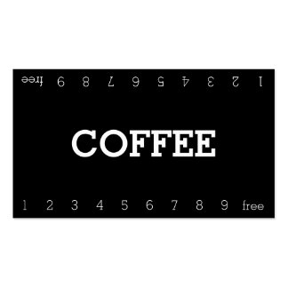 Simple Double Number Loyalty Coffee Punch-Card Pack Of Standard Business Cards