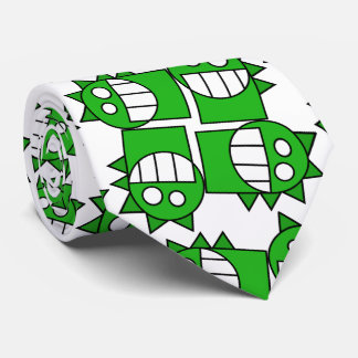 simple drawed with geometric shapes smiling dragoo tie