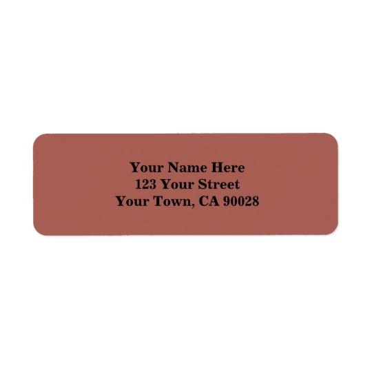 Simple Dusty Brown Return Address Label