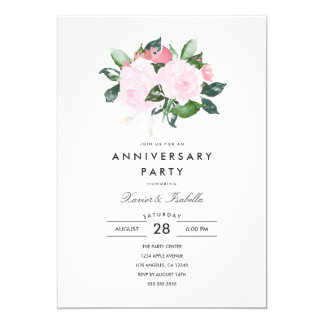 Simple Elegance | Anniversary Party Invitation