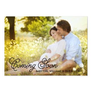 Simple Elegance Coming Soon Pregnancy Announcement