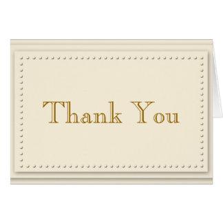 Simple Elegance Cream Thank You Card