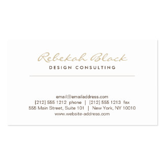 SIMPLE ELEGANCE in TAUPE Designer Business Card