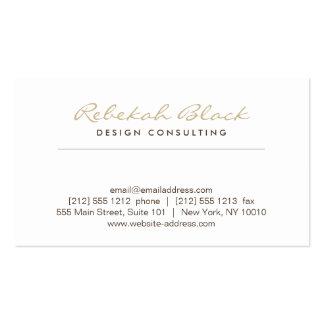 SIMPLE ELEGANCE in TAUPE Designer Business Card