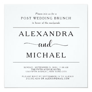 Simple Elegance | Minimalist Post Wedding Brunch Card