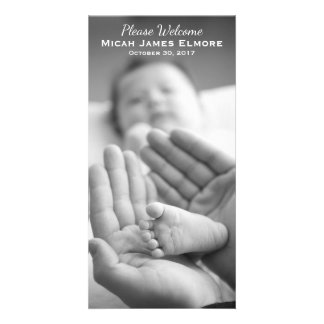 Simple Elegance Photo Birth Announcement Personalised Photo Card