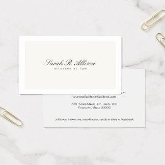 Simple Elegant Attorney Professional Cream