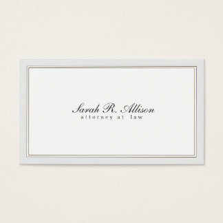 Simple Elegant Attorney White with Border