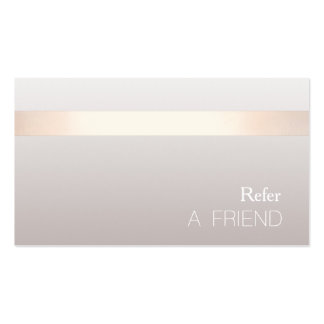 Simple Elegant Beauty Salon Referral Card Pack Of Standard Business Cards