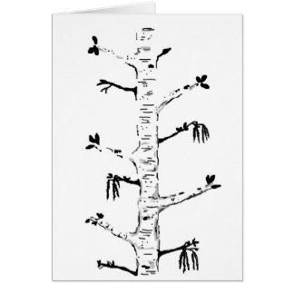 Simple Elegant Birch Tree Blank Card