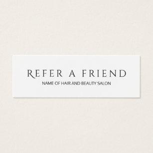 Simple Elegant Black and White Referral Card