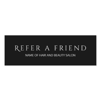 Simple Elegant Black and White Referral Card Pack Of Skinny Business Cards