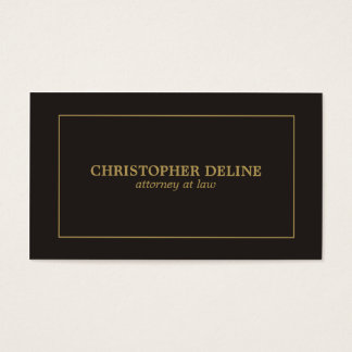 Simple Elegant Black Faux Gold Attorney Business Card
