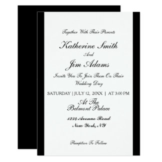 Simple Elegant black Wedding card