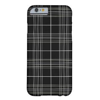 Simple Elegant Black White Tartan Plaid Pattern Barely There iPhone 6 Case