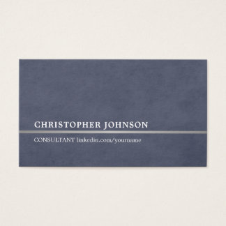 Simple Elegant Blue Faux Silver Line Attorney Business Card