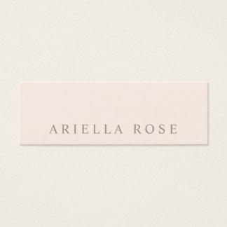 Simple Elegant Blush Pink Professional Mini Business Card