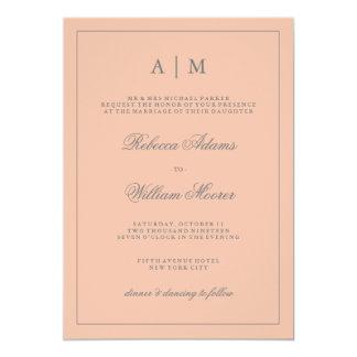 Simple Elegant Blush Pink Wedding Invitation