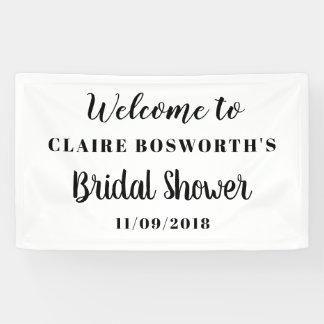 Simple Elegant Bridal Shower Minimal Banner