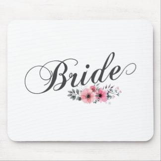 Simple & Elegant Bride Pink Floral | Mousepad